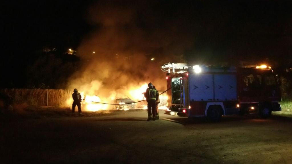 Incendio en el Port de Sóller