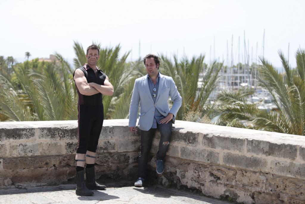 Fernando Gil, maestro de ceremonias, e Iñaki Fernánez, creador y productor del espectáculo.