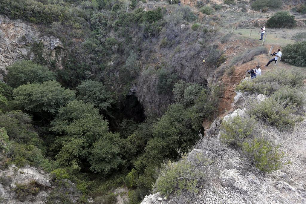 Barranco donde ha sido hallado el cadáver de la joven Vanesa