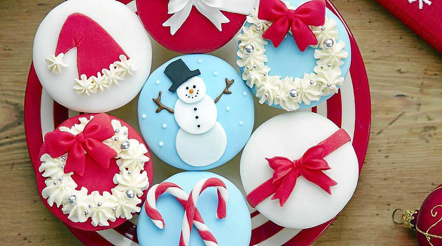 'Cupcakes' variados de Navidad