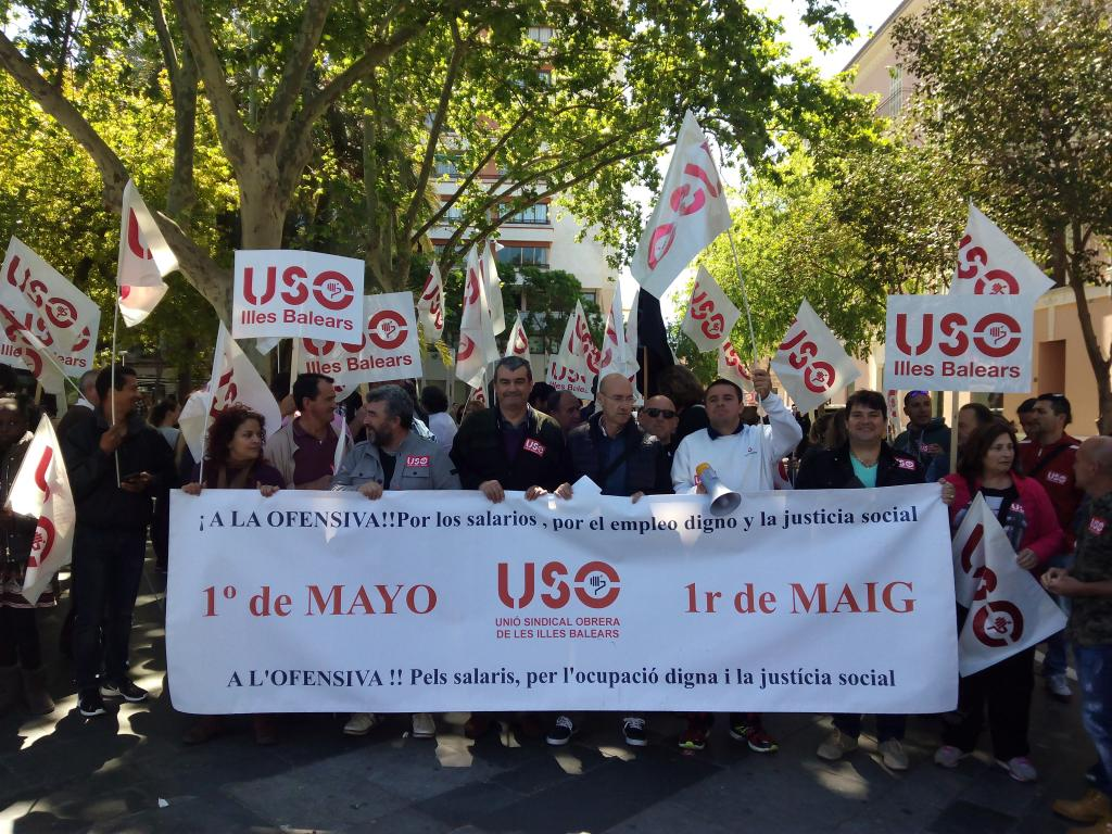 Manifestación de USO por el Día del Trabajo