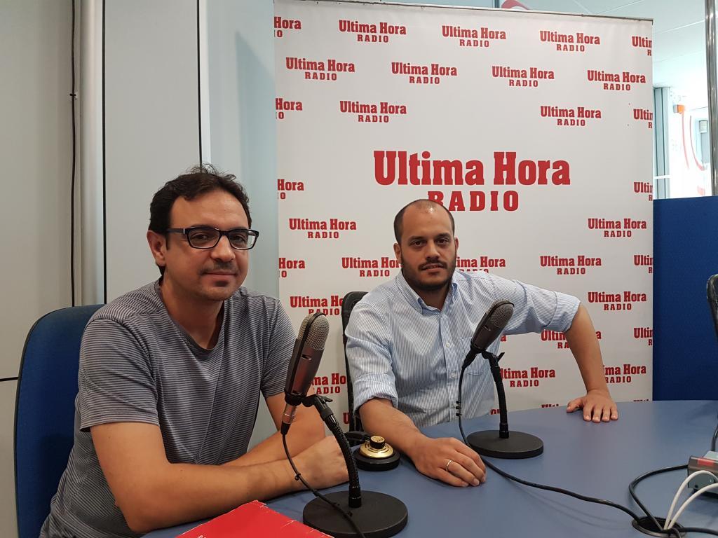 David Rodríguez y Paco Zamorano, portavoces sindicales de UGT en la cárcel de Palma