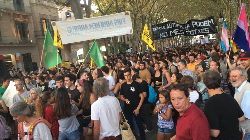 Manifestación contra la masificación turística en Palma