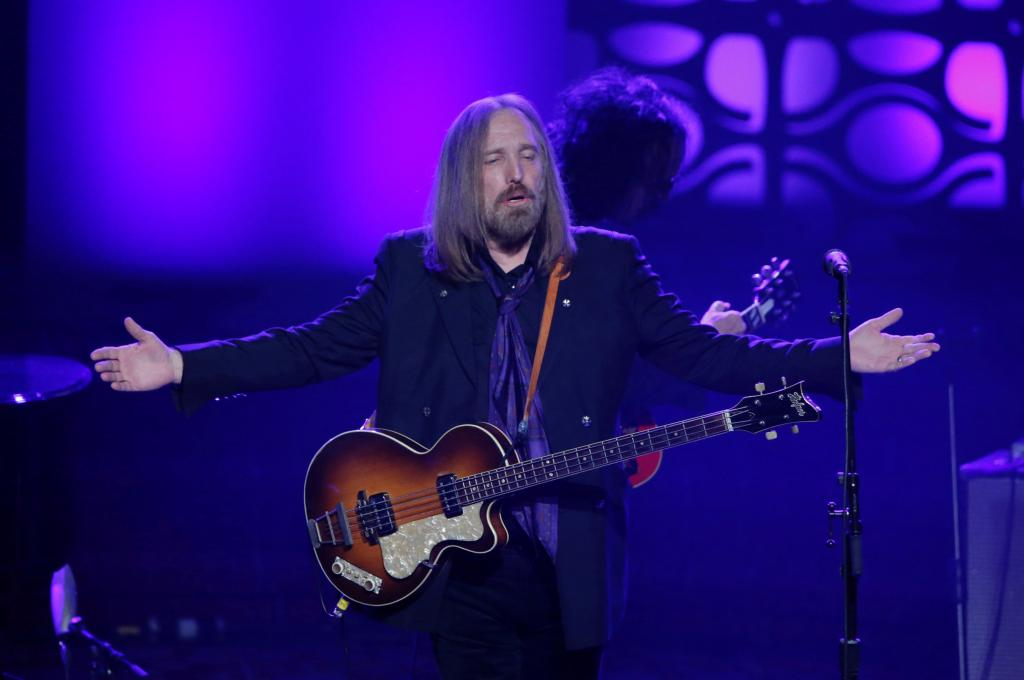 FILE PHOTO: Musician Tom Petty performs on stage after being inducted during the 47th Songwriters Hall of Fame Induction ceremon