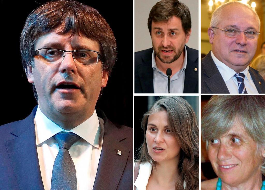 Puigdemont y cuatro de sus exconsellers en Bruselas