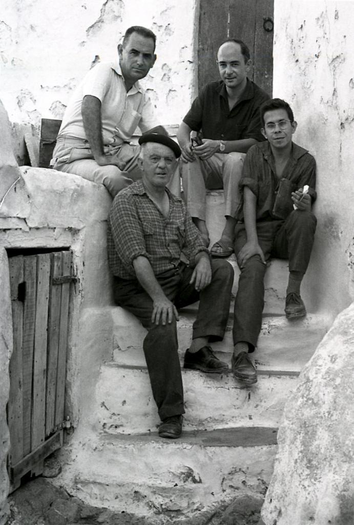 Toni Pomar, segundo por la derecha, pertenecía al Grupo Puget, compuesto por Vicent Calbet, Vicent Ferrer Guasch y Antoni Marí R