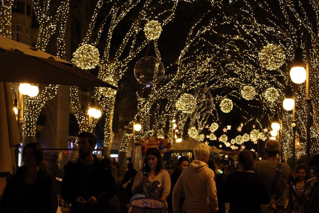 navidad luces iluminacion navideña palma