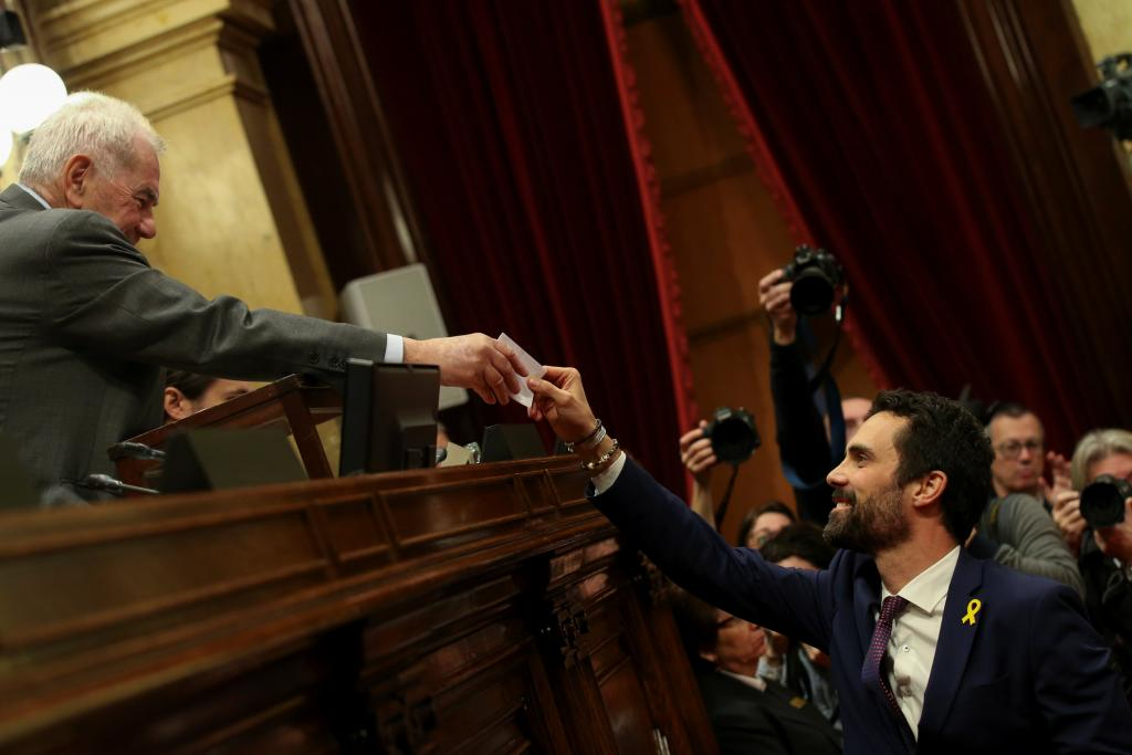 Roger Torrent, nuevo presidente del Parlament