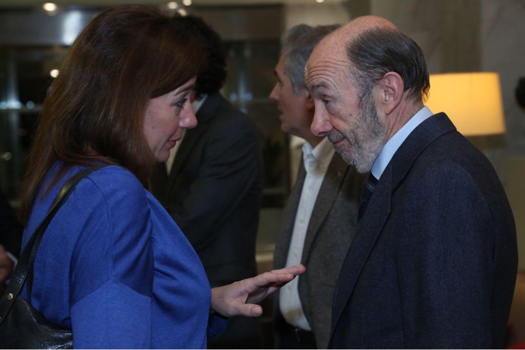 Francina Armengol y Alfredo Pérez Rubalcaba