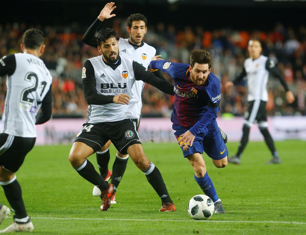 Spanish King's Cup Semi Final Second Leg - Valencia vs FC Barcelona