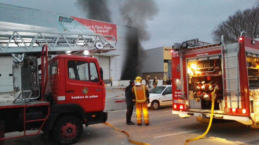 Incendio en Palma Jump
