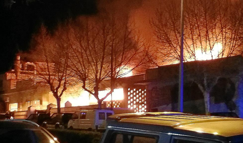 Voraz incendio en Capdepera