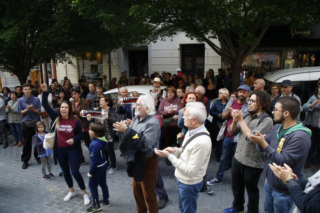 Concentración en Palma en apoyo a Valtònyc ante su inminente ingreso en prisión