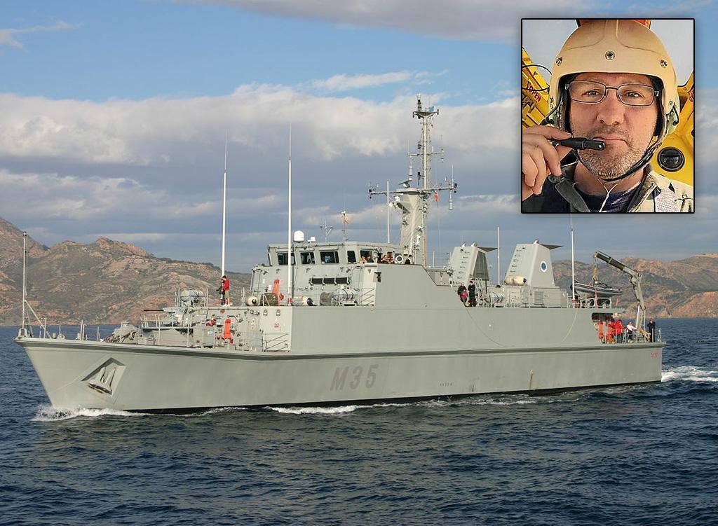 Un cazaminas de la Armada ha localizado la avioneta y el cadáver de Antonio Alfaro.