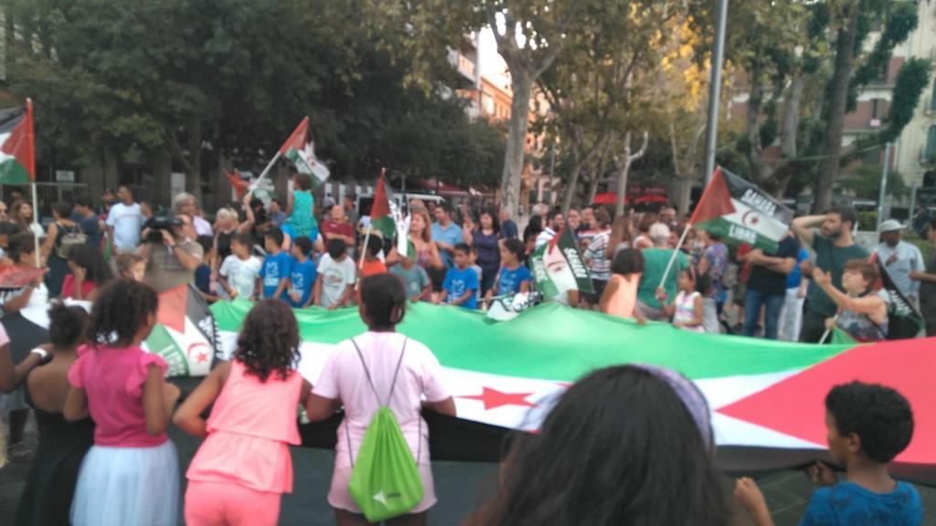 Manifestación en favor de la libertad del Sahara