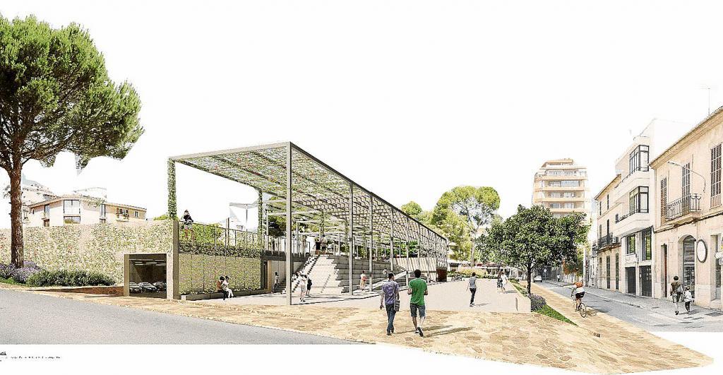 simulacion reforma Plaça Mallorca Inca;