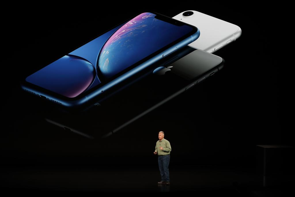 Schiller Senior Vice President, Worldwide Marketing of Apple, speaks about the the new Apple iPhone XR at an Apple Inc product l
