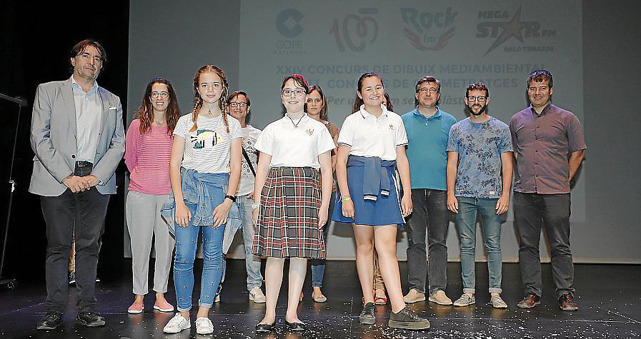 Entrega de premios del concurso de dibujo medioambiental de Cope Mallorca