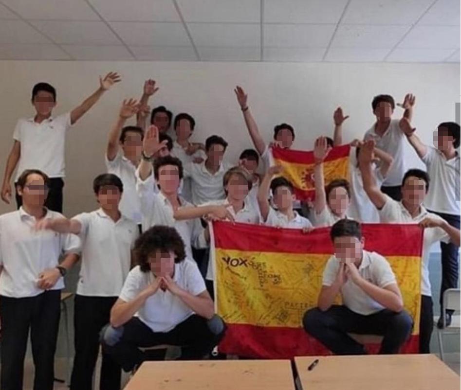 Saludos fascistas en un colegio concertado de Palma