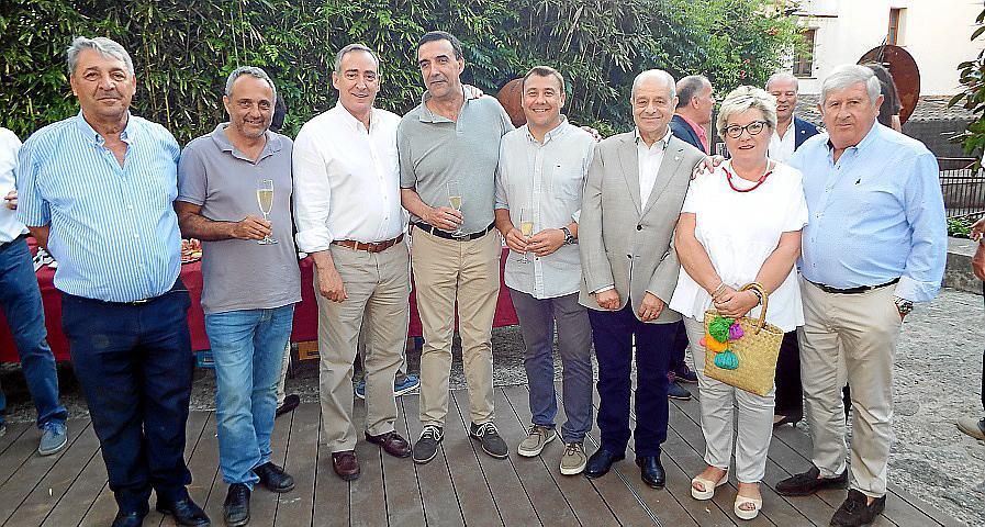 Homenaje sorpresa a Vicenç Sastre en Can Prunera