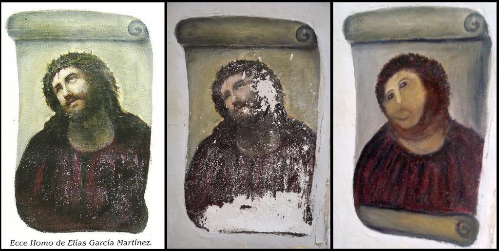 El antes y el después del \'Ecce Homo\' de Borja