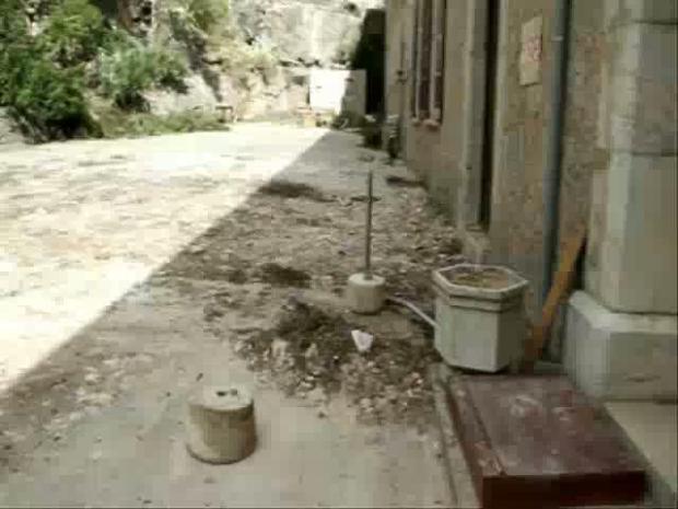 Trabajos de reconstrucción en Lluc tras el cap de fibló.