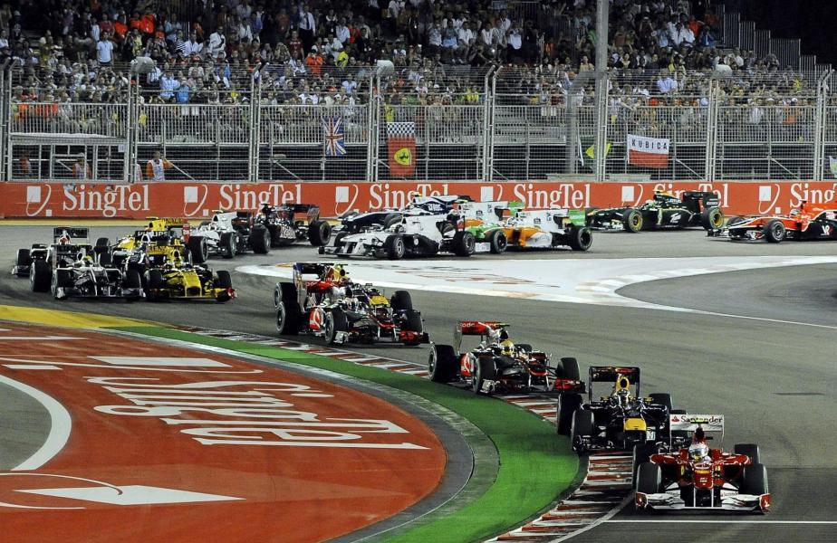 Circuito Callejero De Marina Bay : Gran premio de singapur el piloto español fernando alonso ferrari