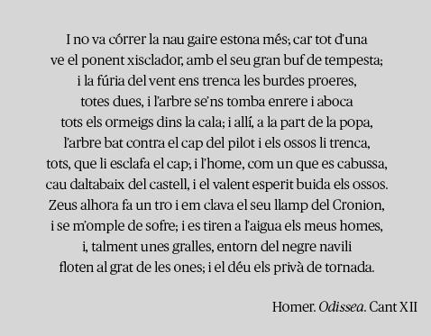Homer. Odissea. Cant XI