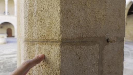 Imagen de algunas de las escrituras que se encuentran en el Castell de Bellver.