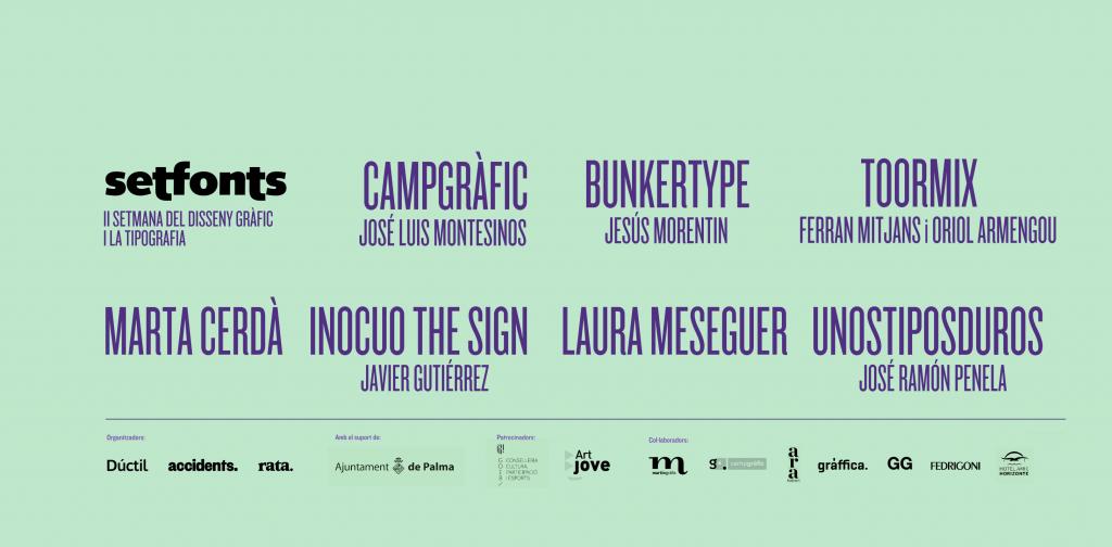 La segunda edición del festival Setfonts llenará Palma de tipografía ...