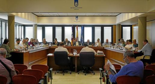 Imagen del pleno ordinario del Ajuntament de Calvià.
