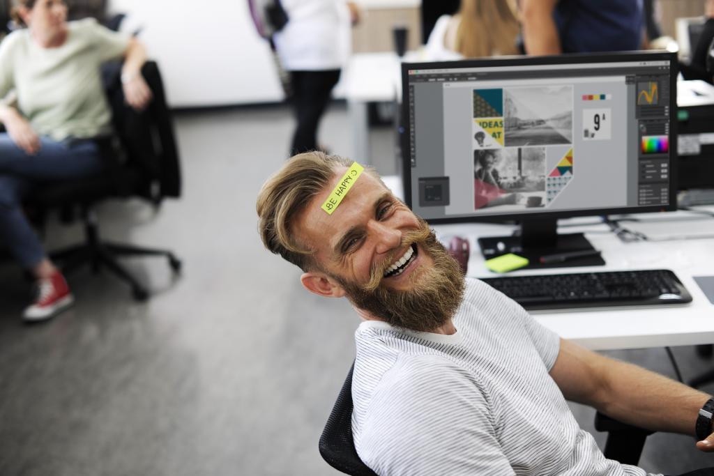 Resultado de imagen para un trabajador feliz