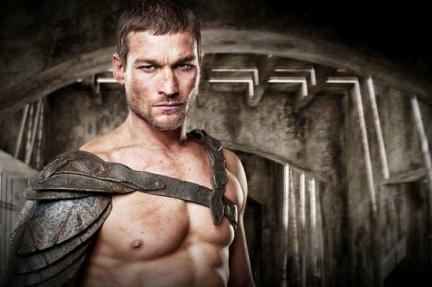 El actor Andy Whitfield, caracterizado para su papel de Spartacus.