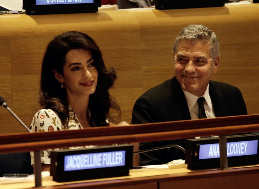 Amal Clooney podría estar embarazada de gemelos
