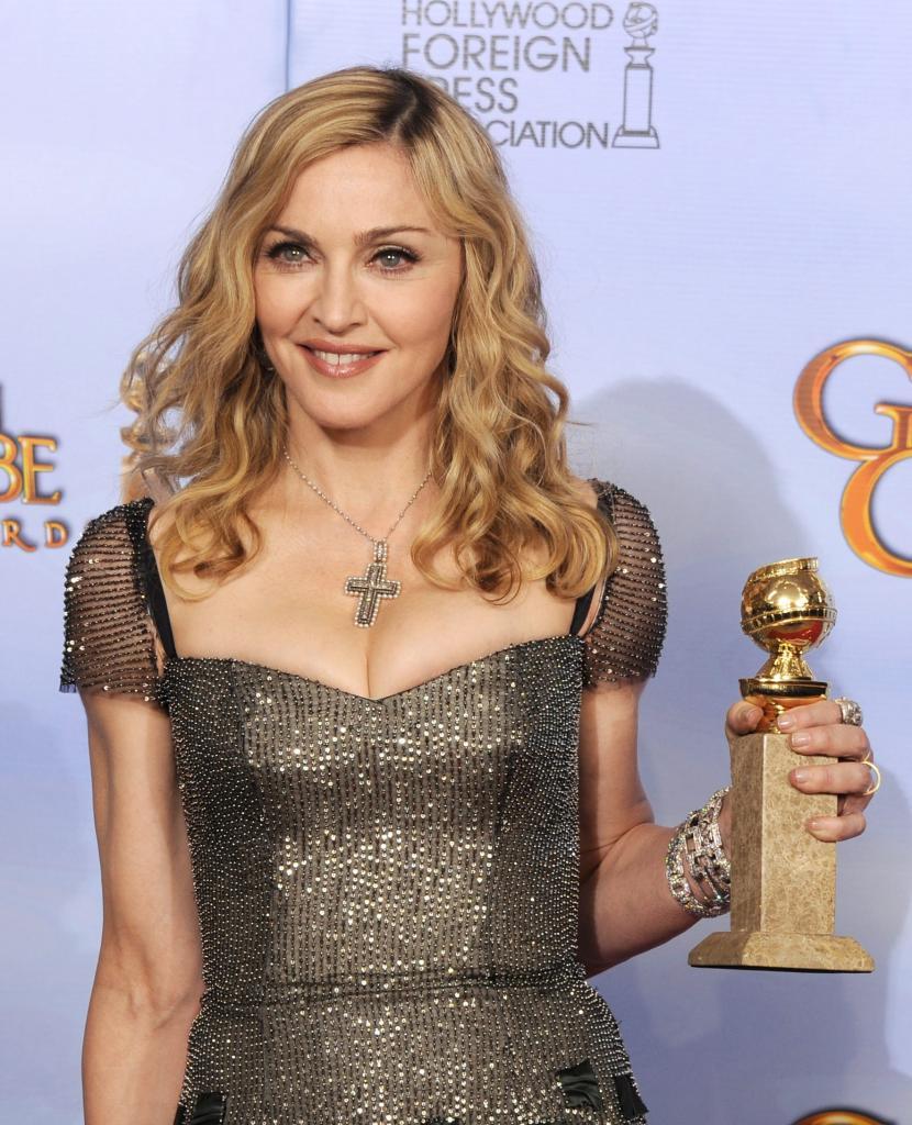 Madonna en la ceremonia de los Globos de Oro