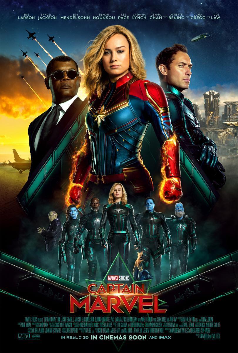 Cartel de la película 'Capitana Marvel'