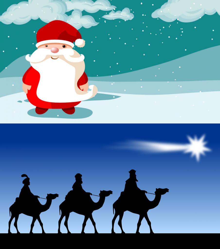 Papá Noél y Reyes Magos
