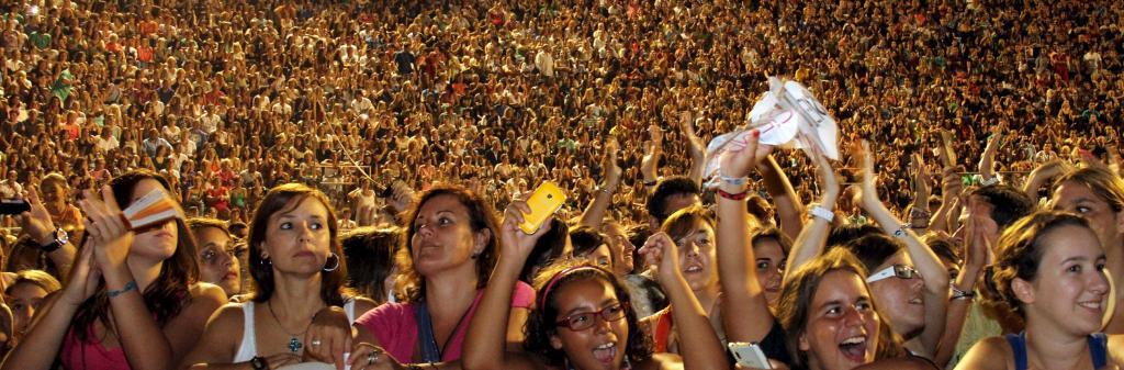 público concierto de verano