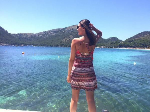 Helen Lindes en Mallorca