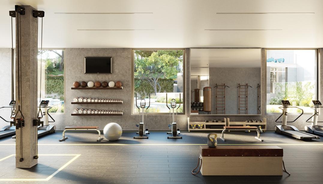 El gimnasio de Pinzons 3, los apartamentos de lujo en Palmanova - Film Houses
