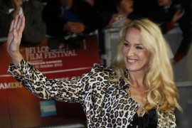 "Jerry Hall arrives for the world premiere of the Rolling Stones documentary ""Crossfire Hurricane"" at the Odeon Leicester Square"