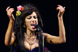 Amy Winehouse, cantante británica.