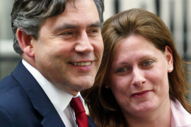 Gordon Brown y su esposa Sarah