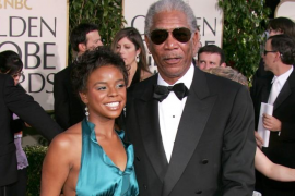 Morgan Freeman y su nieta