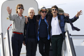 Mick Jagger, Charlie Watts, Keith Richards y Ronnie Wood en La Habana