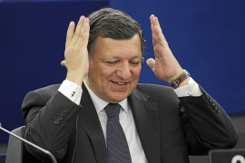 European Commission President Jose Manuel Barroso gestures before delivering a policy speech at the European Parliament in Stras