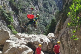 Rescate de un excursionista en el Torrent de Pareis