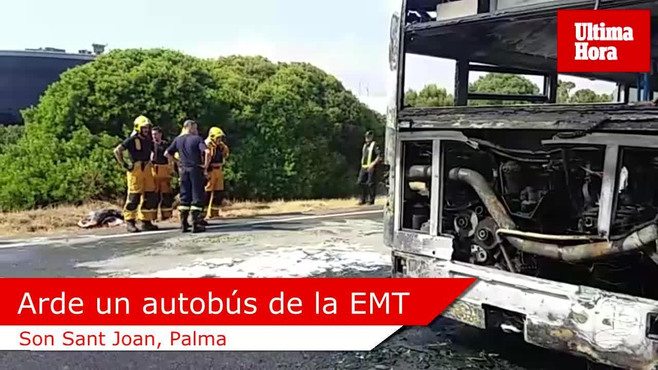 Arde otro autob s de la emt noticias sucesos ultima - Transportes palma de mallorca ...