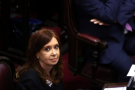 Former Argentine President Fernandez de Kirchner attends a swearing-in ceremony for senators at the Argentine Senate in Buenos A