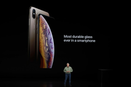 Schiller Senior Vice President, Worldwide Marketing of Apple, speaks about the the new Apple iPhone XS at an Apple Inc product l